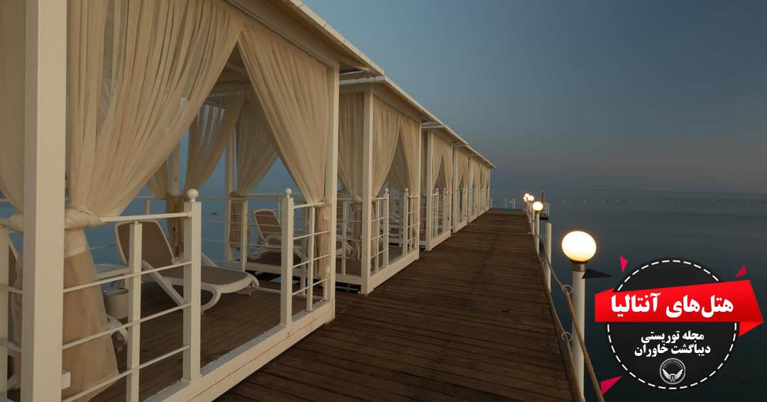 هتل پنج ستاره سواندر توپکاپی الهام گرفته از قصر سلطات سلمان بنا شده است هتل در فاصله ۱۶